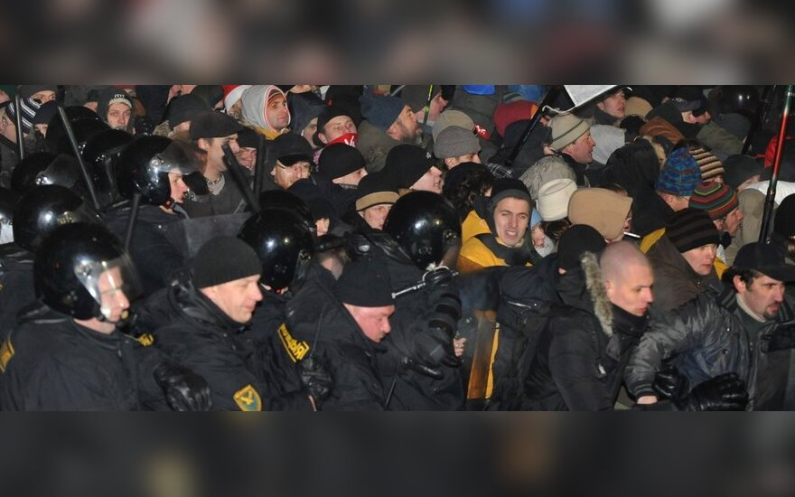 Susidorojimas su protestuotojais Minske, Baltarusijoje