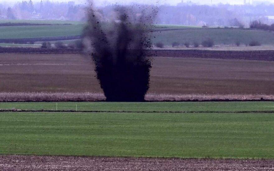 На границе Литвы с Калининградской областью РФ уничтожен артиллерийский снаряд