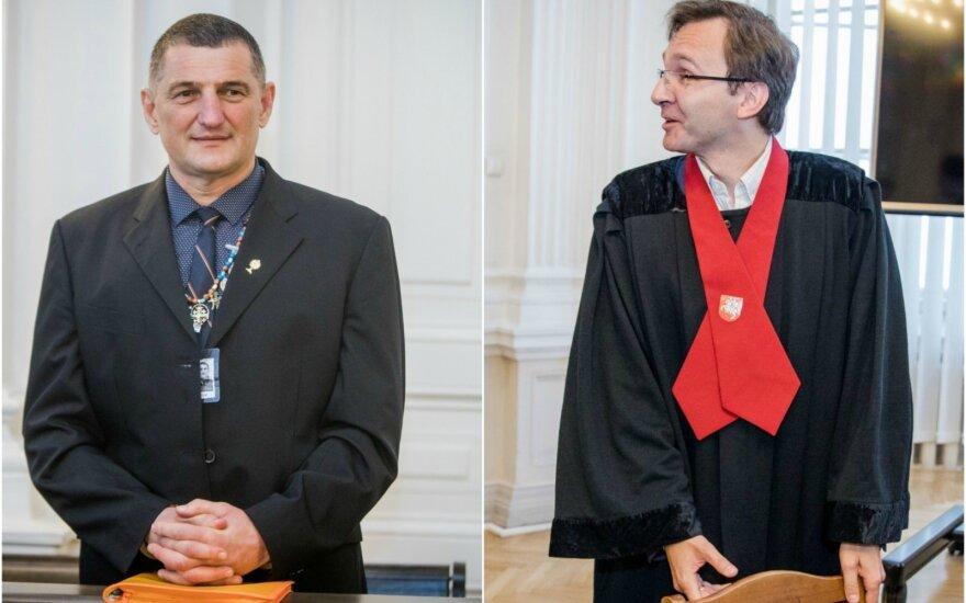 Henrikas Daktaras ir prokuroras Marius Zupkauskas