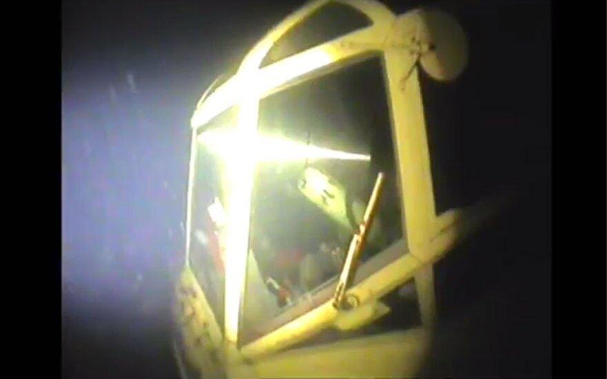 Представлено видео с лежащим на дне моря Ан-2