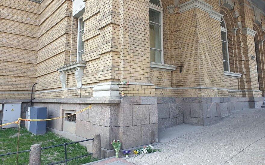 Vilniuje sudaužyta Generolo Vėtros atminimo lenta