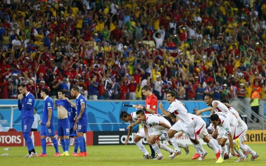 Pasaulio futbolo čempionato aštuntfinalis: Kosta Rika  - Graikija