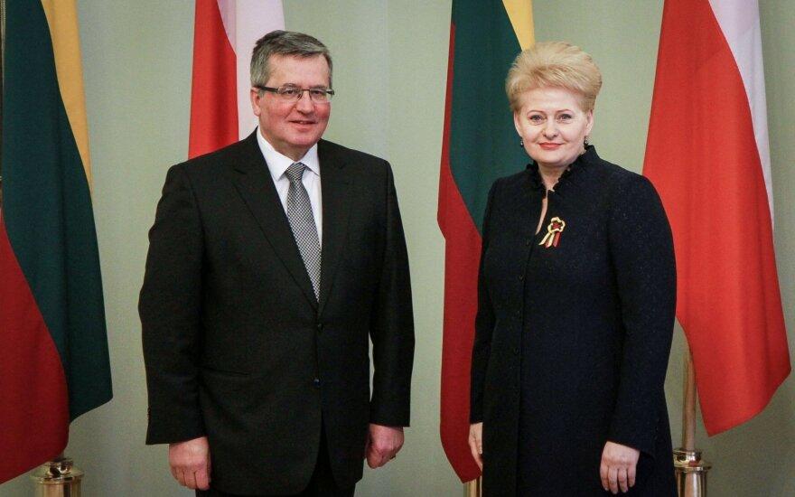 Komorowski: W obliczu rosyjskiej agresji Litwa i Polska powinny wzmacniać siły obronne