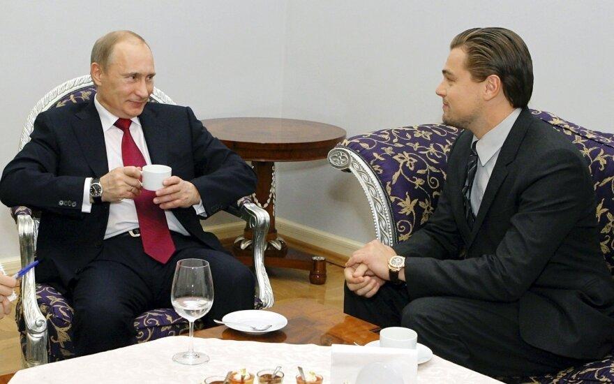 V.Putinas ir L.Di Caprio