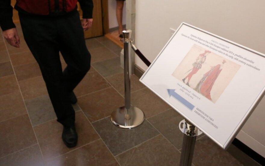 Дворец правителей представил приобретенный портрет Витаутаса Великого и его жены