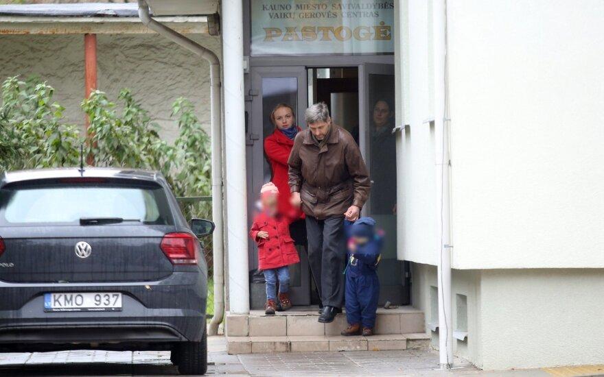 Gintaras Kručinskas su vaikais