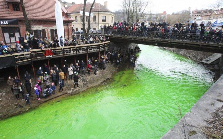 Vilniuje, Užupyje, švenčiama Šv. Patriko diena