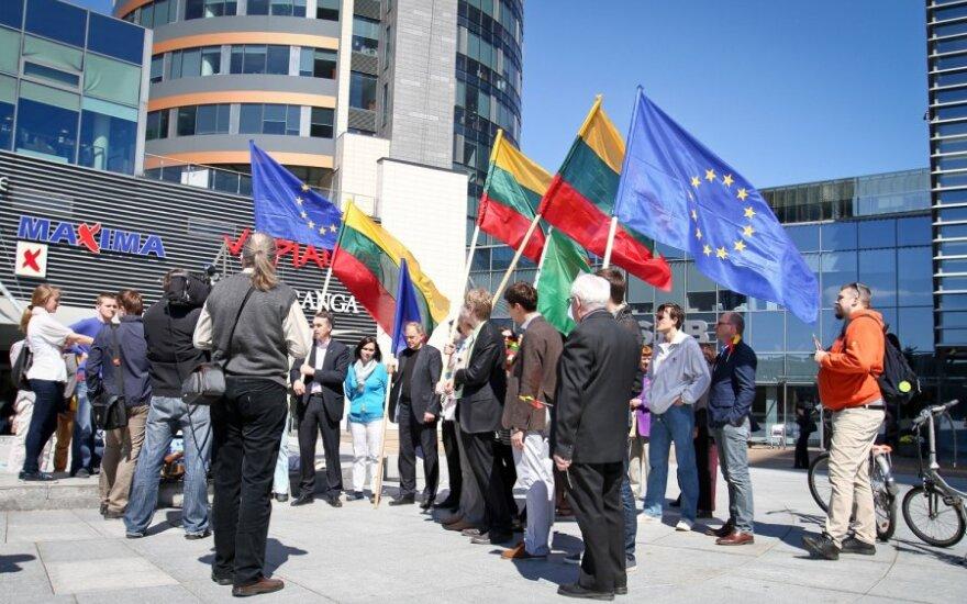 """""""Европейский марш"""" в Вильнюсе: восторженный, но немногочисленный"""