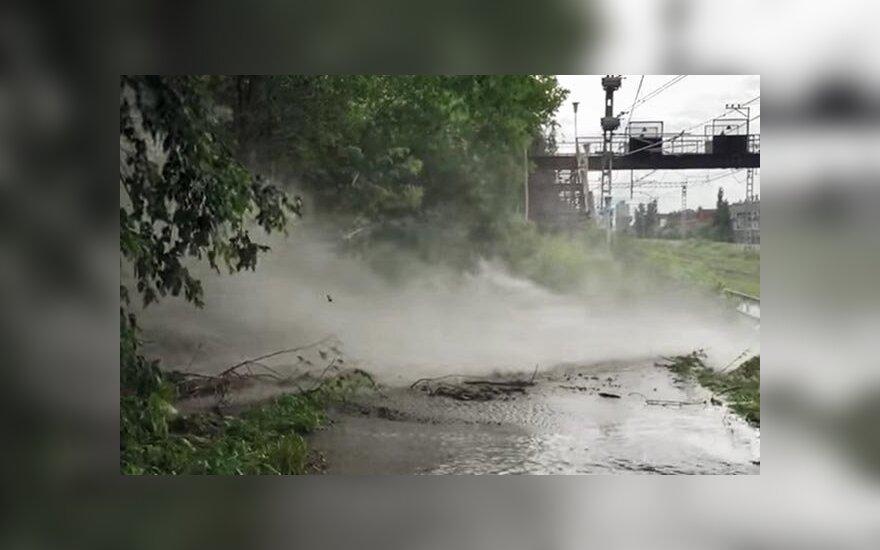 В Перми 30-метровый фонтан из фекалий затопил завод