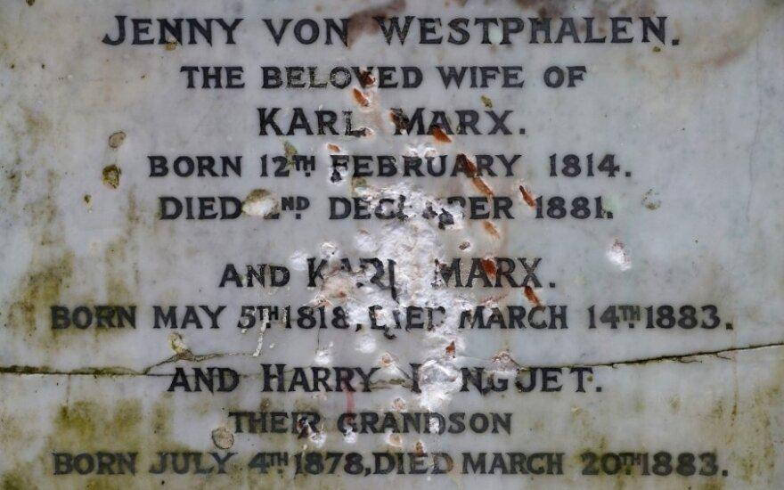 Londone išniekintas paminklas Karlui Marxui