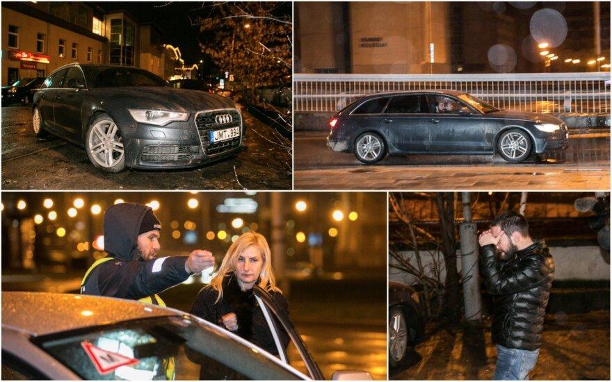 Ночной рейд в Вильнюсе: водитель Audi скрылся на огромной скорости
