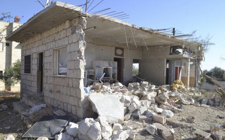 Sugriautas namas Sirijoje
