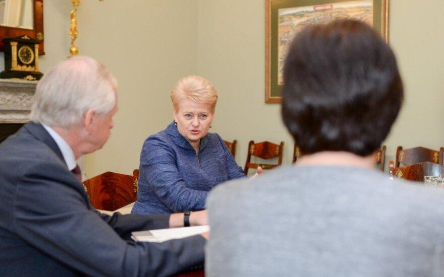 Dalia Grybauskaitė, Evaldas Gustas ir Virginija Baltraitienė