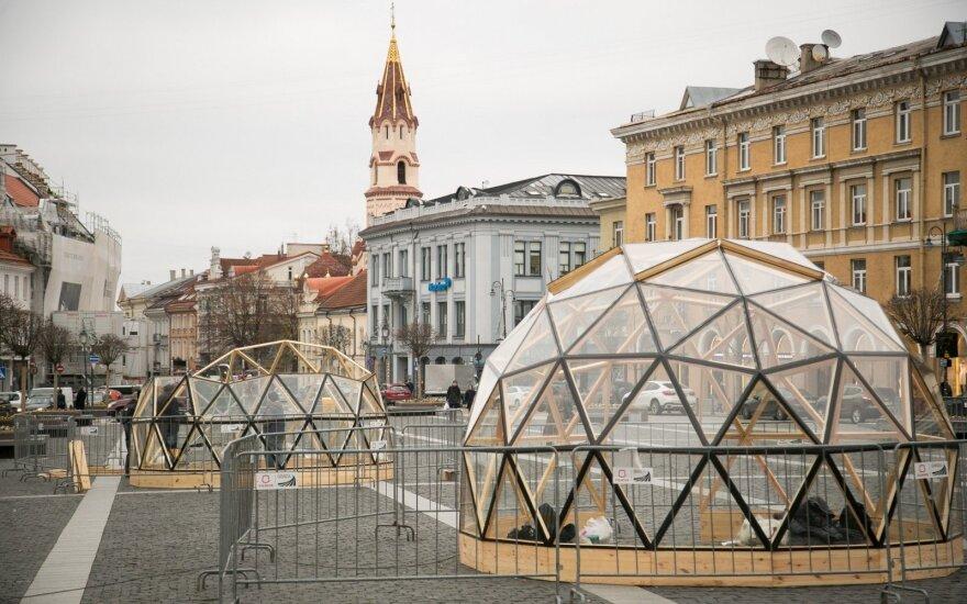 На Ратушной площади появились стеклянные купола
