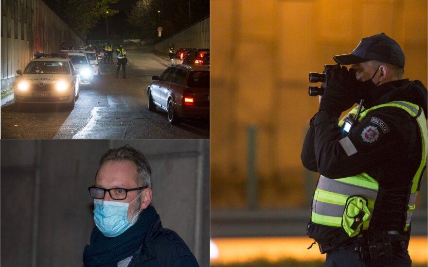 Ночной рейд в Вильнюсе: полиция штрафовала и водителей, и пешеходов