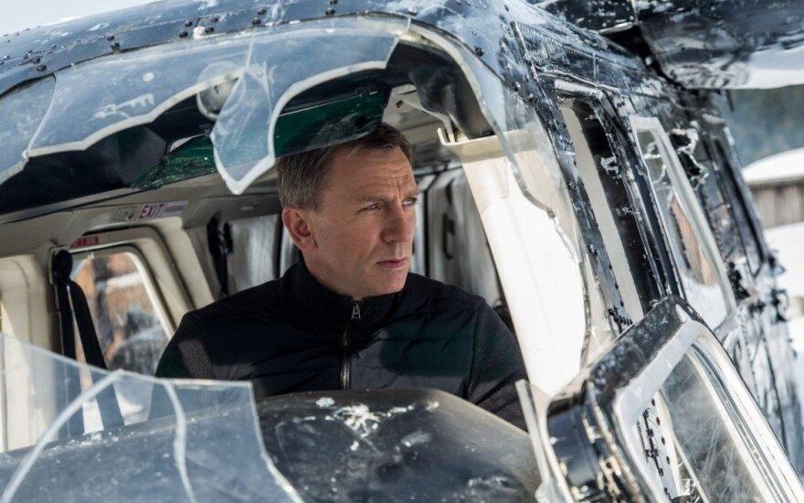 "Jamesas Bondas (akt.Danielis Craigas) filme ""007 spectre"""