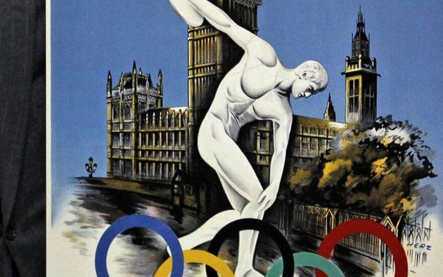 Londono olimpinių žaidynių plakatas