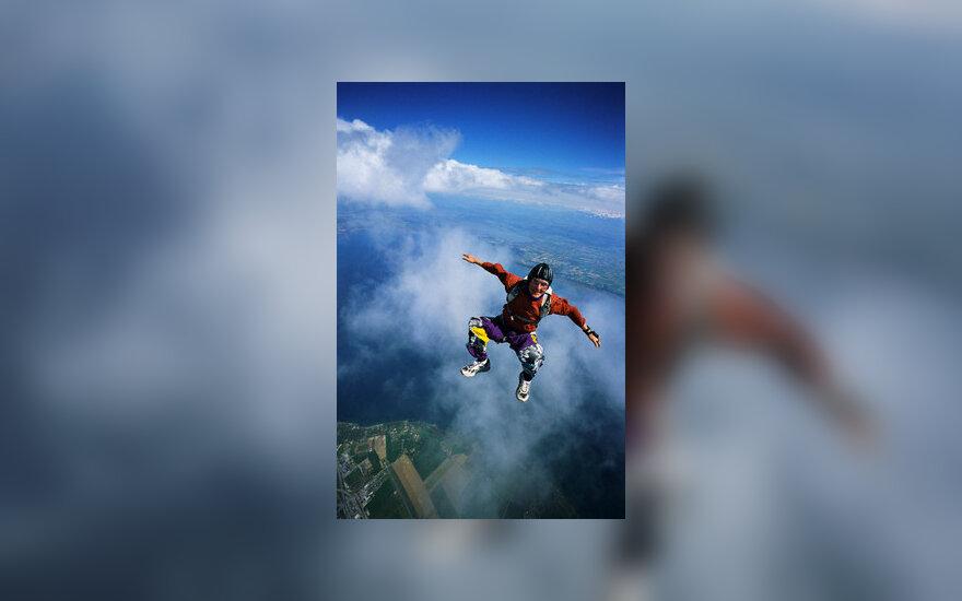 Prašiutas, parašiutininkas, sportas, skrydis, šuolis parašiutu