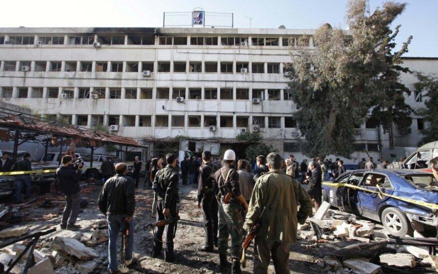 Syria: Powstańcy wysadzili w powietrze sztab sił rządowych
