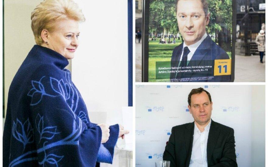 D. Grybauskaitė, A. Zuokas, V. Tomaševskis