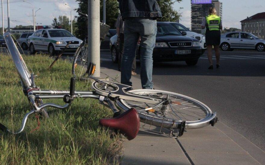 В Вильнюсе пострадала велосипедистка