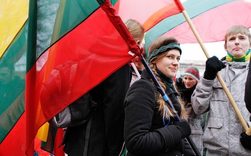 В Вильнюсе состоялось факельное шествие