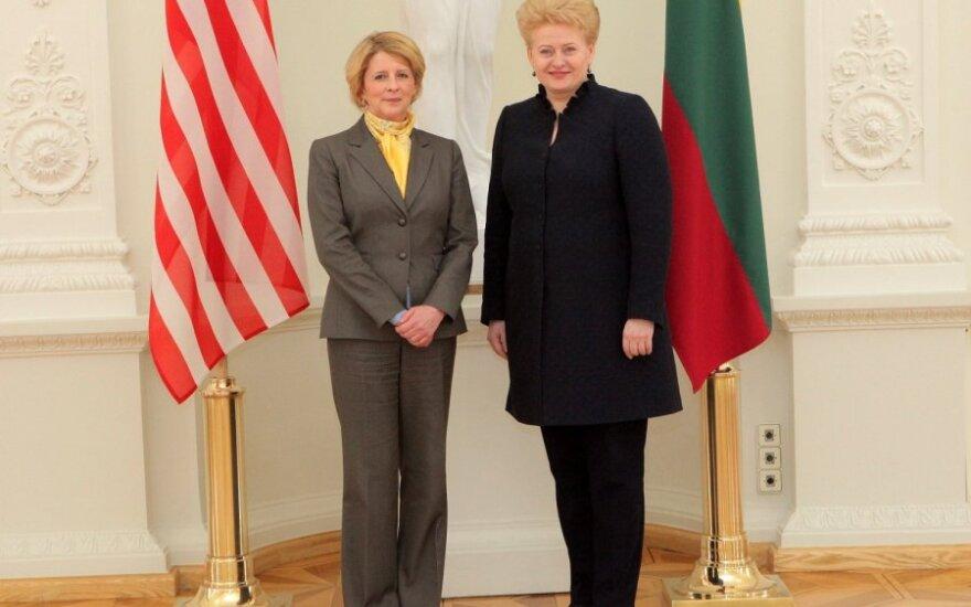 Президент Литвы приняла верительные грамоты посла США