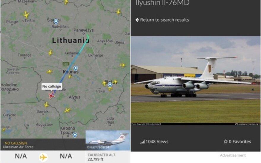Panevėžiečiams nerimą sukėlė žemai skridęs Ukrainos kariuomenės lėktuvas