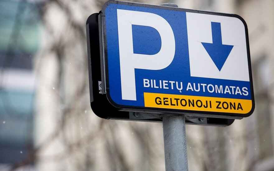 В столице Литвы больше стоянок для автомобилей станут платными