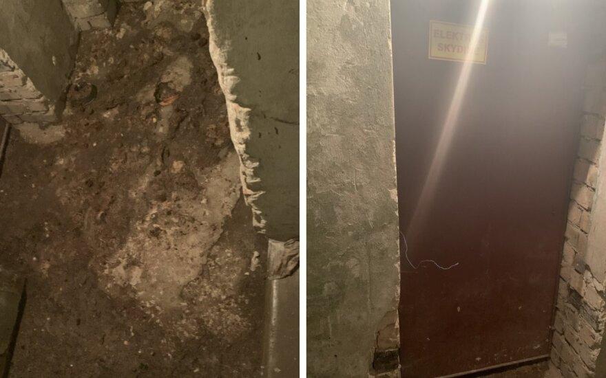 Vandentiekio g. 44 name išsiliejo nuotekos
