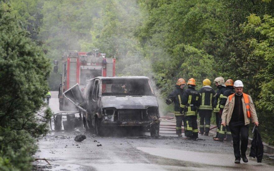 Sudegė automobilis
