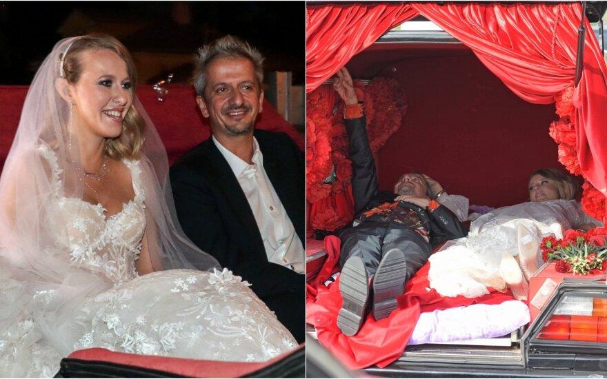 Maskvoje susituokė Ksenija Sobčiak ir Konstantinas Bogomolovas