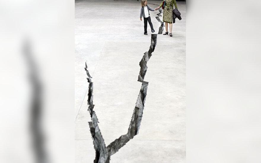 """Tate Modern"" instaliacija-plyšys"