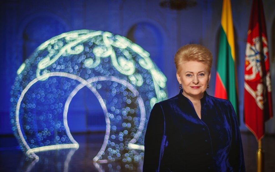Новогоднее поздравление президента: нужно беречь свободную Литву