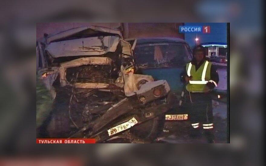 """На трассе """"Крым"""" в аварию попали 37 машин: погибла женщина, число пострадавших растет"""