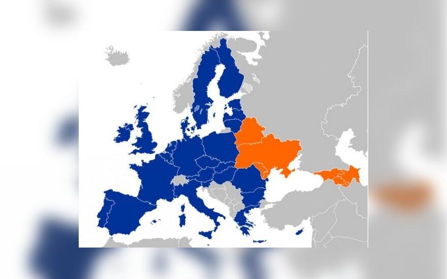 """Карта """"Восточного парнерства"""". Фото - eurodialogue.org"""