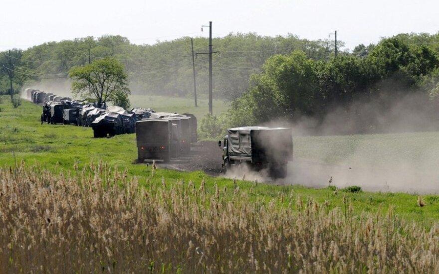 Užfiksuota Ukrainos sienos link judanti Rusijos karinė technika