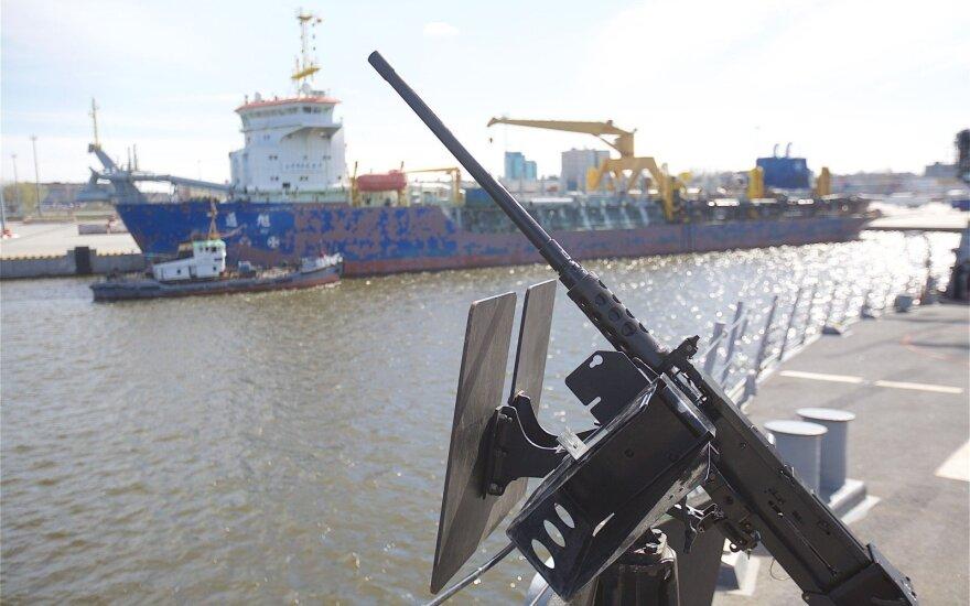 В Клайпеду доставлен приобретенный для ВМС патрульный корабль
