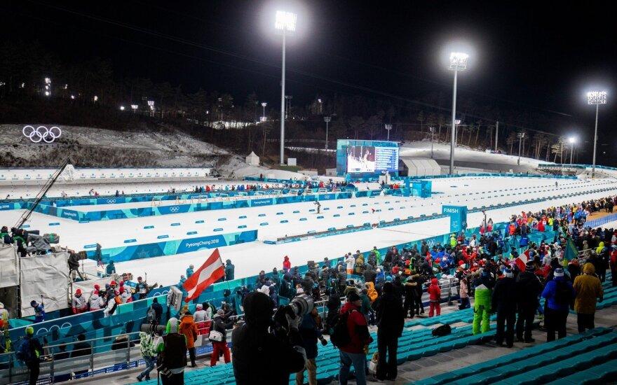 Pjongčango olimpiada: biatlono 20 km individualios lenktynės – Tomas Kaukėnas ir Vytautas Strolia
