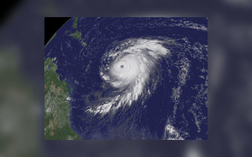 """Uragano """"Billo"""" nuotrauka iš palydovo"""