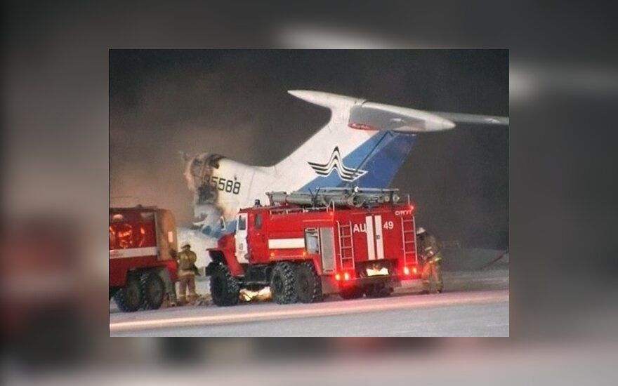 В России под Сургутом сгорел самолет ТУ-154