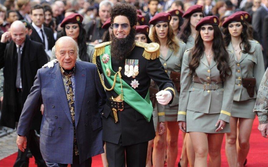 Sacha Baron Cohen i Mohamed Al Fayed