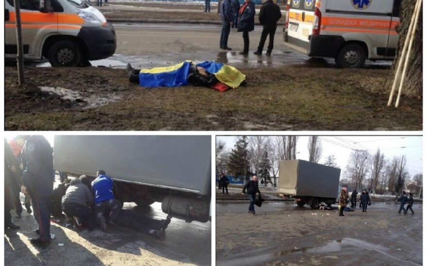 В Харькове произошел взрыв во время мирного шествия