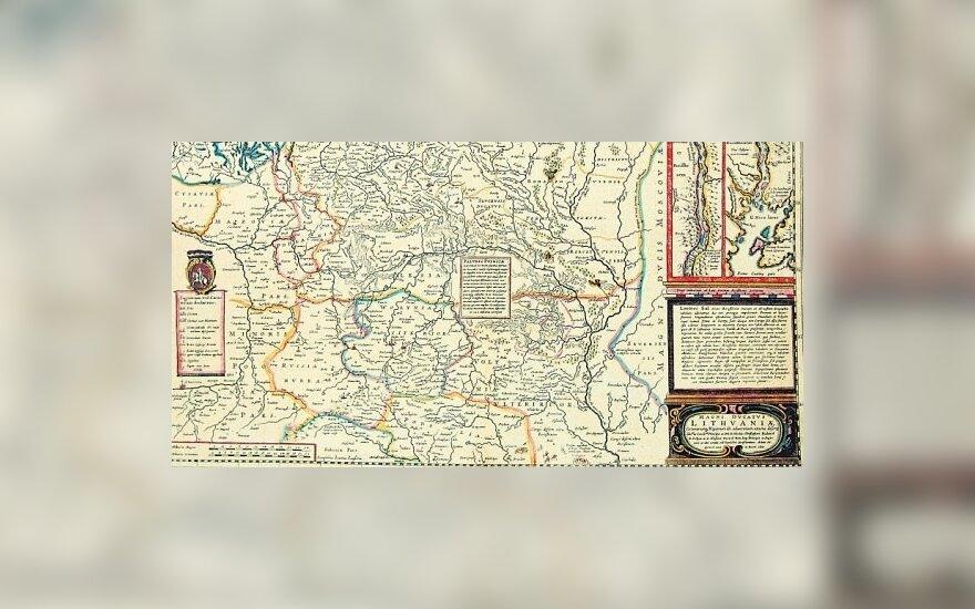 Mikalojaus Radvilos Našlaitėlio Lietuvos Didžiosios Kunigaikštystės 1613 m. žemėlapio 1648 m. kopija