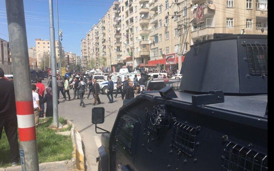 В турецком городе Диярбакыр прогремел мощный взрыв