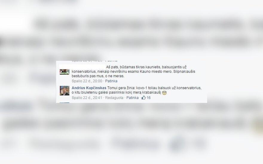 Andriaus Kupčinsko komentaras
