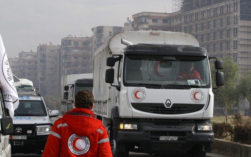 Гуманитарная помощь доставлена в четыре осажденных района Сирии