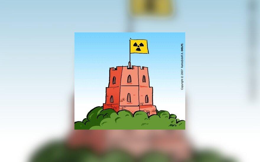 Atominė elektrinė, karikatūra