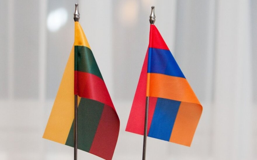 Lietuvos ir Armėnijos vėliavos