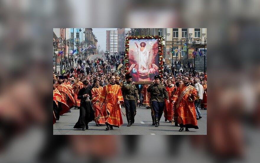 Фоторепортаж: как празднуют Пасху в России